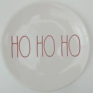 """Rae Dunn Ho Ho Ho Plate 8"""""""